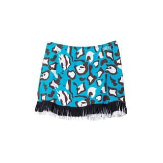 Azul Swimwear Girl's 'Yubba Dubba Do' White/Blue/Black Print Polyamide/Spandex Beach Cover-up Skirt|https://ak1.ostkcdn.com/images/products/13403269/P20098975.jpg?impolicy=medium