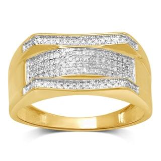 Unending Love 10k Yellow Gold 1/5ct TDW Diamond Men's Ring (I-J, I2-I3)