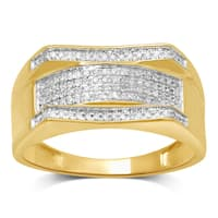 Unending Love 10k Yellow Gold 1/5ct TDW Diamond Men's Ring (I-J, I2-I3)