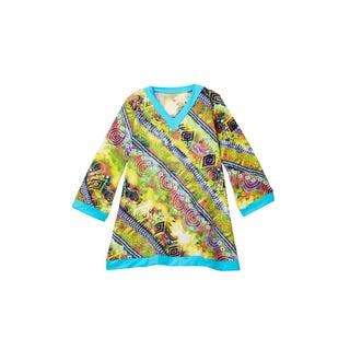 Azul Girls' Native Threads Multicolor Polyamide and Spandex Tunic|https://ak1.ostkcdn.com/images/products/13403282/P20098980.jpg?impolicy=medium