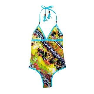 Azul Swimwear Girls' Native Threads Multicolor Polyamide and Spandex 1-piece Swimsuit