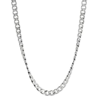 Men's Stainless Steel Curb Chain Necklace, 24""