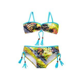 Azul Swimwear Girl's Native Threads Multicolor Spandex and Polyamide Bandeau Bikini