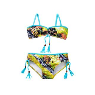 Azul Swimwear Girl's Native Threads Multicolor Spandex and Polyamide Bandeau Bikini (Option: 7)