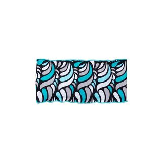 Azul Swimwear Girls' Cloud 9 Blue, Black, and White Polyamide and Spandex Headband