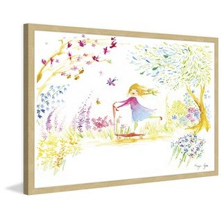 Marmont Hill - 'Girl at Park' by Maya Gur Framed Painting Print