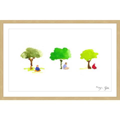 Marmont Hill - Handmade Three Meditators Framed Print