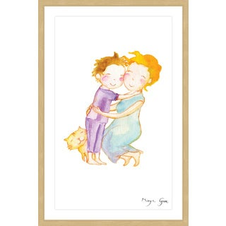 Marmont Hill - 'Mom Hug' by Maya Gur Framed Painting Print