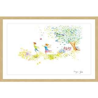 Marmont Hill - 'Girl and Boy' by Maya Gur Framed Painting Print