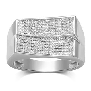 Unending Love 10k White Gold Men's 1/4ct TDW Diamond Ring (I-J, I2-I3)