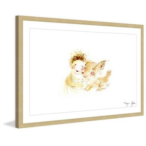 Marmont Hill - Handmade Boy and Dog Love Framed Print