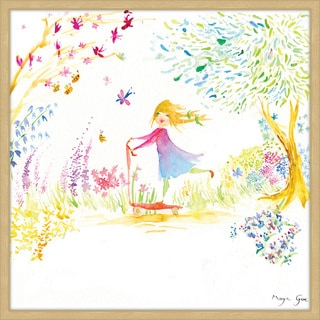Marmont Hill - 'Girl at the Park' by Maya Gur Framed Painting Print
