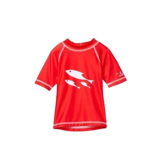 Boy's 'One Fish, Two Fish' Red Polyester Rash Guard