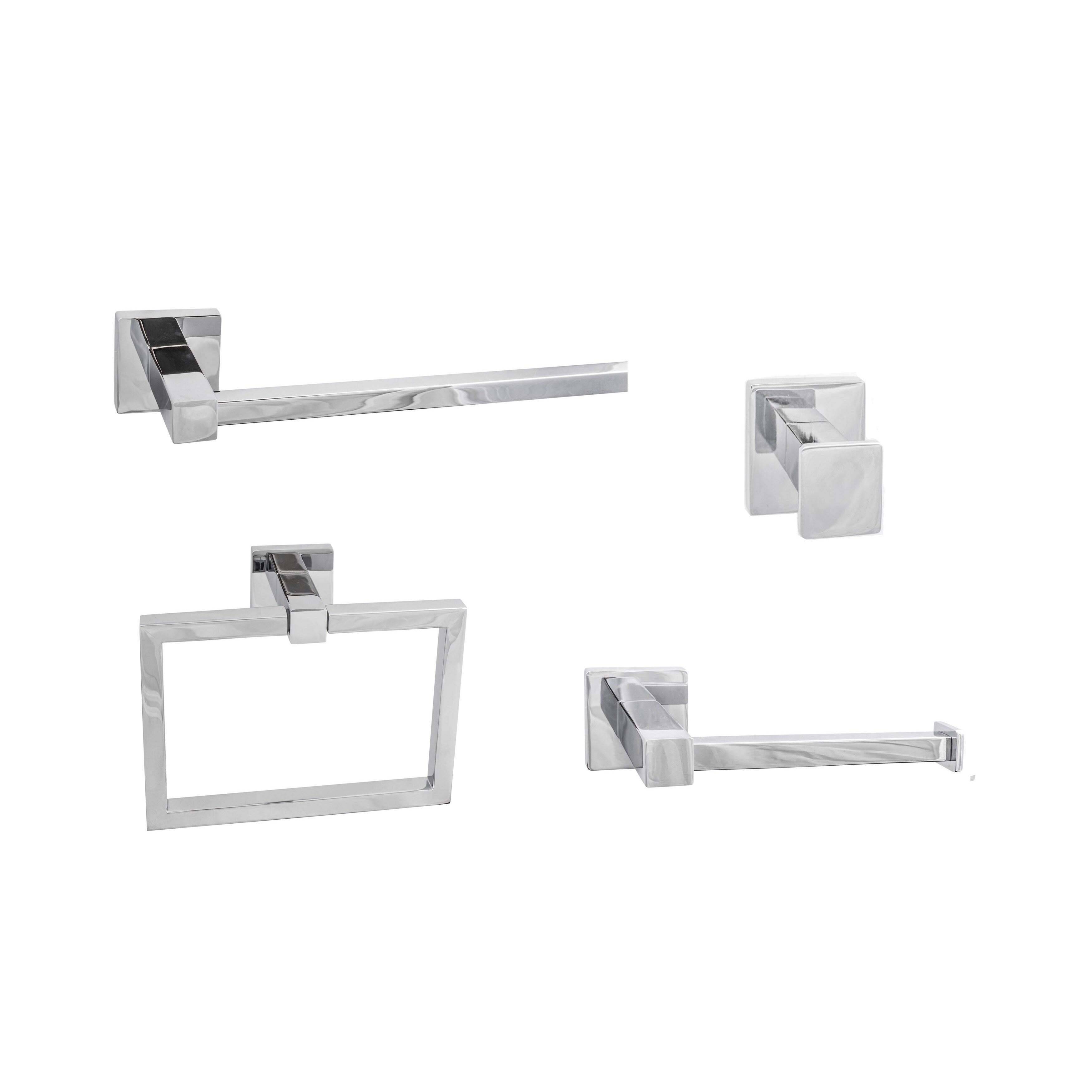 4 Piece Bathroom Accessory Set