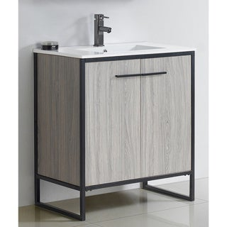 Vdara 30-inch Grey Taupe Bathroom vanity Cabinet Set