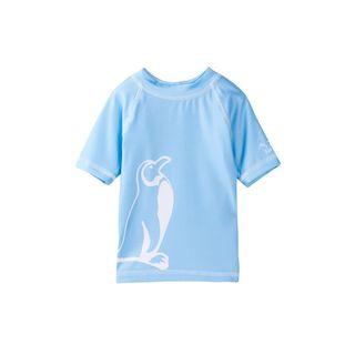 Freeze Blue Polyester Rash Guard Swimwear
