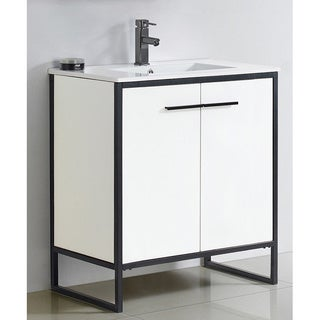 Vdara 30-inch White Bathroom vanity Cabinet Set