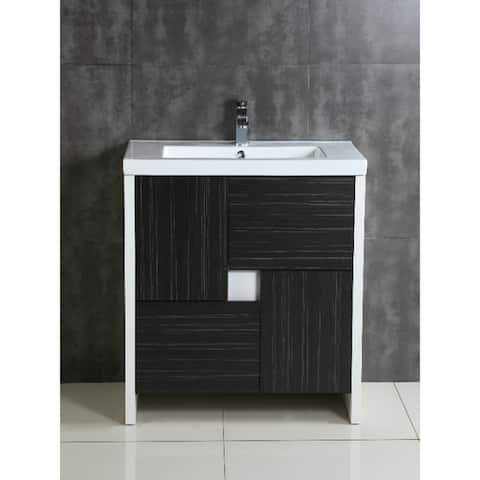 Fine Fixtures Midland Vanity Cabinet Set With Vitreous China Sink
