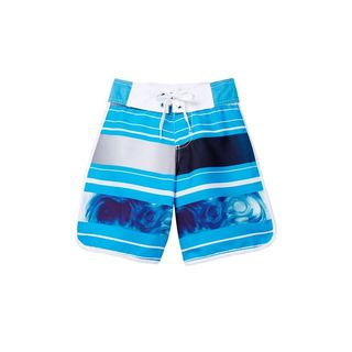 Tidal Wave Blue Polyester Boardshorts