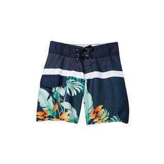 Second Nature Boys' Blue Hawaiian Print Boardshorts (3 options available)