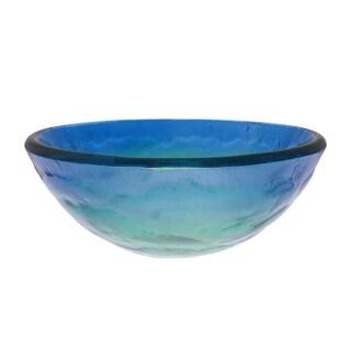 Novatto Mare Glass Vessel Bathroom Sink Set, Brushed Nickel