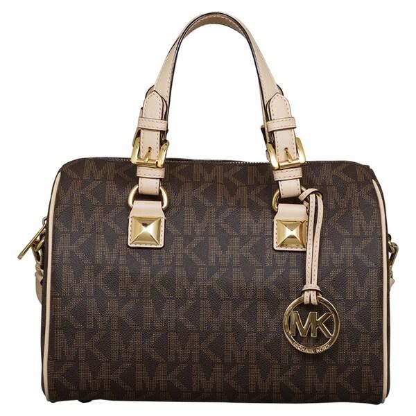 shop michael kors medium grayson satchel free shipping today rh overstock com
