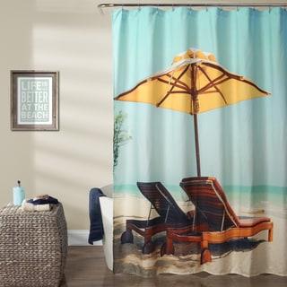 Lush Decor Beach Chair Polyester Shower Curtain