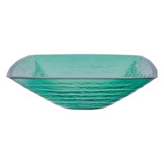 Novatto Sauna Glass Vessel Bathroom Sink Set, Oil Rubbed Bronze