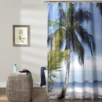 Lush Decor Beach Palm Tree Polyester Shower Curtain