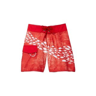 Boys' School of Fish Red Polyester Board Shorts