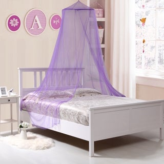 Kids Collapisble Wire Hoop Bed Canopy (Option: Purple)