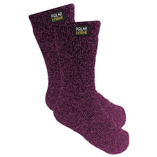 Polar Extreme Women's Black/Grey/Pink/Purple Insulated Thermal Socks