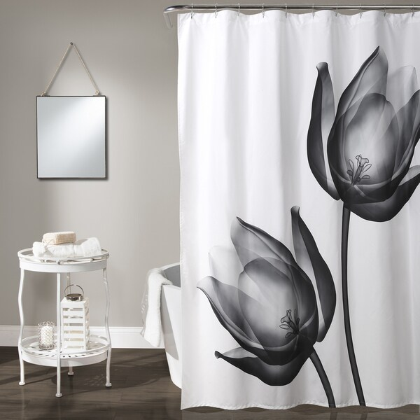 Lush Decor Xray Tulip Shower Curtain