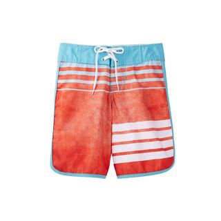 Static Men's Blue/Orange Polyester Board Shorts