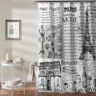 Lush Decor Paris France Shower Curtain