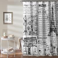 Lush Decor Paris France Shower Curtain
