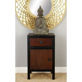 Brown and Black Wood Night Stand