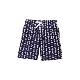 Boy's Aye Aye Captain Blue Polyester Shorts