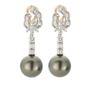 Kabella 18K Yellow Gold Black Southsea Pearl and 1 1/2ct TDW Diamond Drop Earrings|https://ak1.ostkcdn.com/images/products/13403546/P20099205.jpg?impolicy=medium
