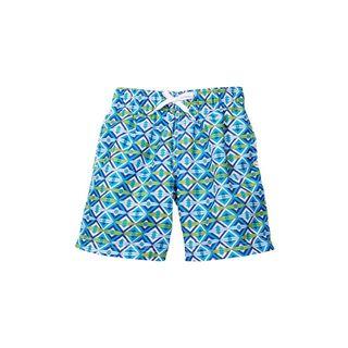 Boys' Flying Kites Blue Polyester Swim Shorts (Option: 6)