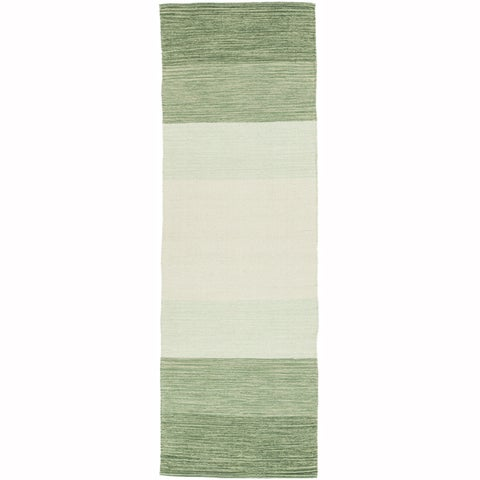 "Artist's Loom Flatweave Contemporary Stripe Pattern Cotton Rug( 2'6""x7'6"") (Set of 2) - 2'6x 7'6"
