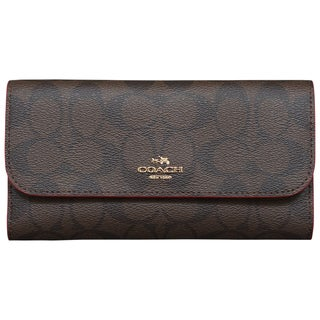 Coach Signature PVC Checkbook Wallet