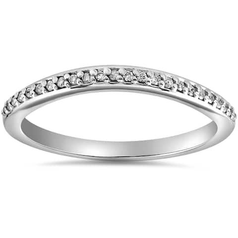 14k White Gold 1/10 cttw Diamond Guard Engagement Wedding Enhancer Ring