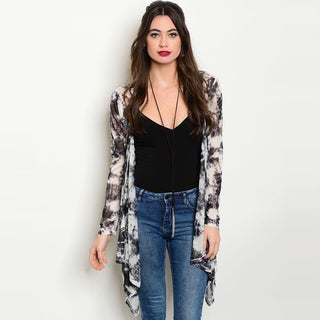 Shop the Trends Women's Tie Dye Lightweight Polyester Long-sleeve Cardigan