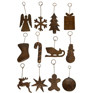 Copper Hand-hammered Christmas Ornaments (Case of 12)