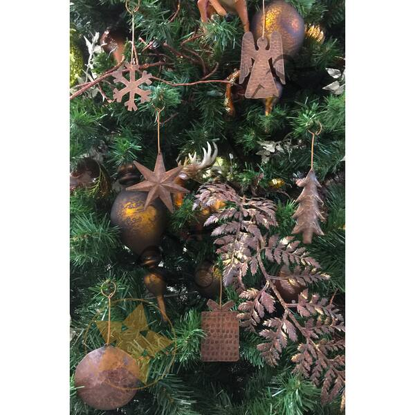 Copper Christmas Ornaments.Handmade Copper Christmas Ornament Set Of 6 Mexico