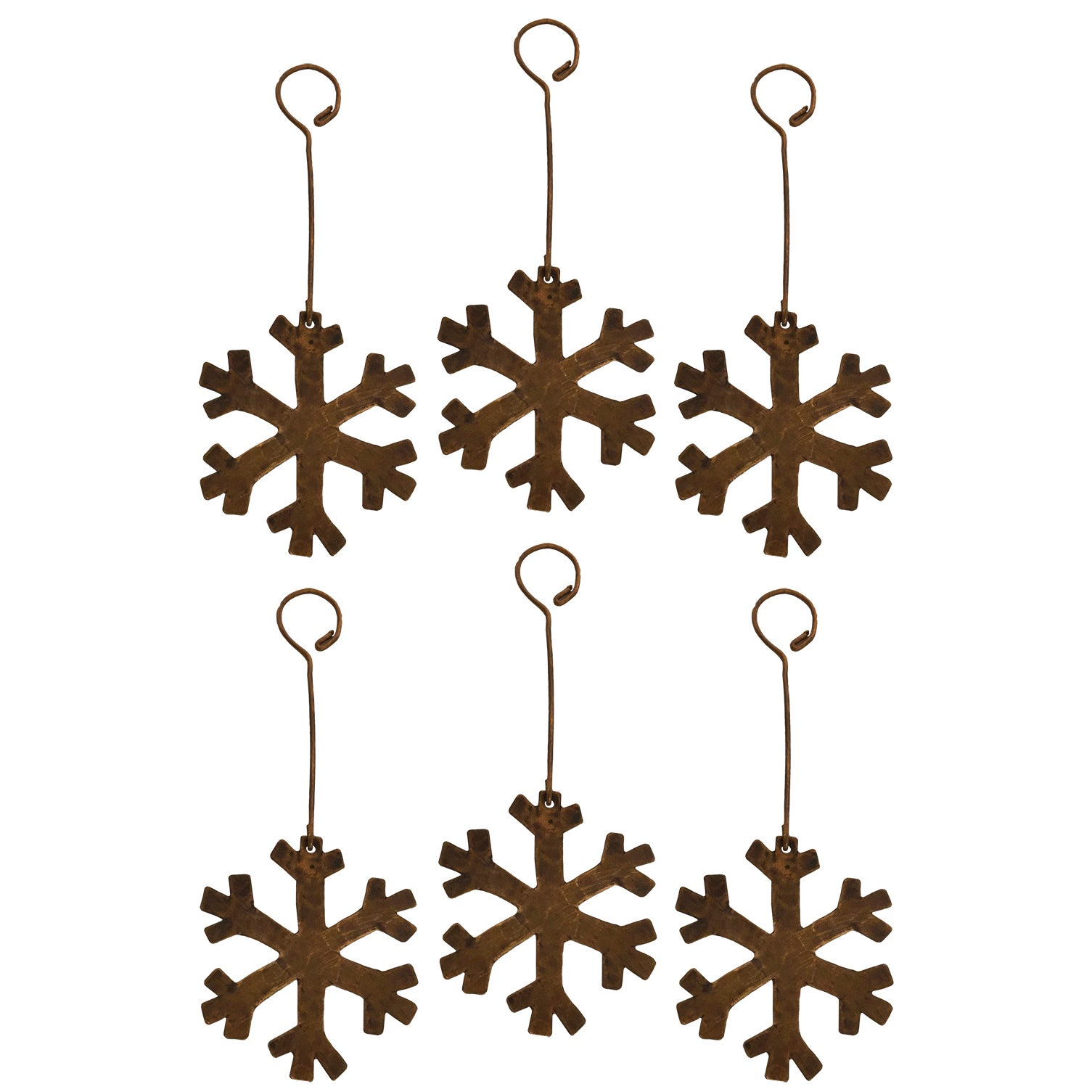 Premier Copper Products Copper Hand-hammered Snowflake Ch...