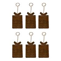 Copper Hand-hammered Present Christmas Ornament (Pack of 6)