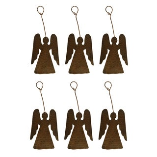 Premier Copper Products Christmas Angel Hand-hammered Copper Ornaments (Pack of 6)