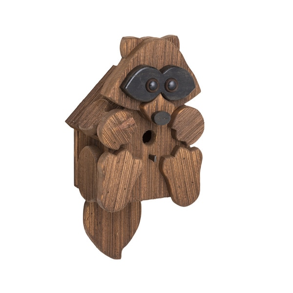 Rustic Barnwood Raccoon Bird House